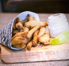 whitebait crate and apple