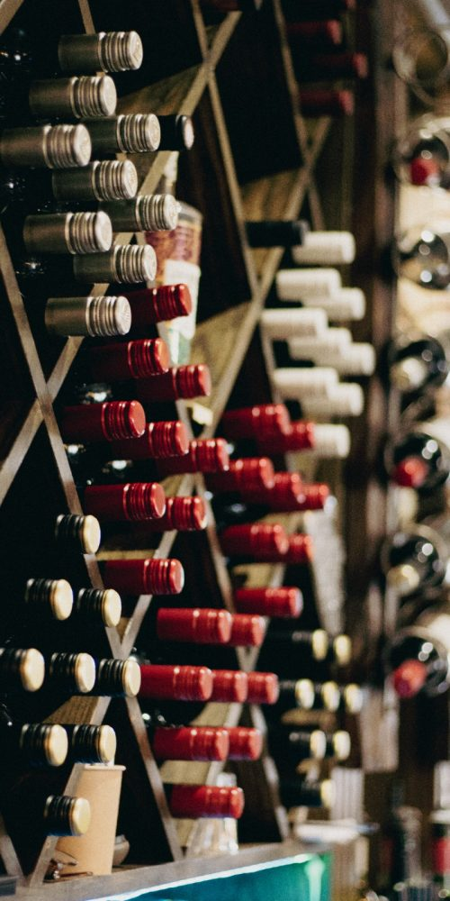 Wine bottles at the Crate