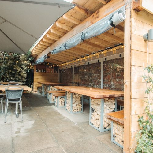Crate and Apple Outdoor Seating
